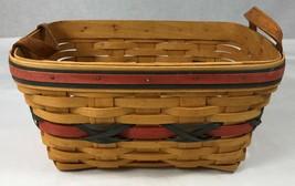 "Longaberger Basket Leather Handles 2000 Century Celebration Oblong 11 x 7.5 x 5"" - $29.02"