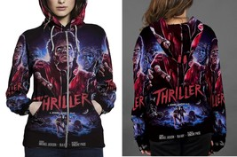 Women Sweater  M.J. Thriller Hoodie Fullprint Zipper Women - $51.99+