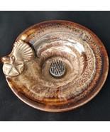 Vintage Colby Pottery Flower Frog Seashell Swirl Spikes Vase Mid Century... - $44.88