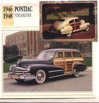1946 46 1947 47 1948 48 PONTIAC STREAMLINER COLLECTOR COLLECTIBLE - $6.76