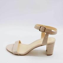 Nine West Womens Pixel Sandals Beige Alligator Embossed Block Heels 9 M New - $27.17