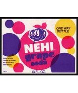 Vintage soda pop bottle label NEHI GRAPE faces pictured unused new old stock - $7.99