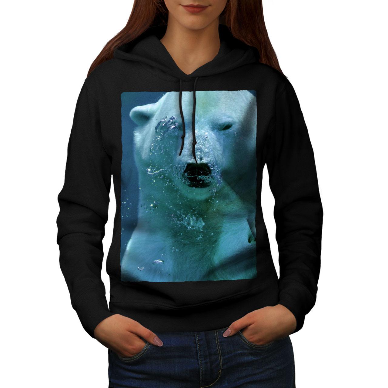 Polar Bear Water Animal Sweatshirt Hoody White Cold Women Hoodie - $21.99 - $22.99