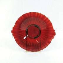 "Plate Serving Ruby Red Depression Glass Handled Vintage 8"" - $37.98"
