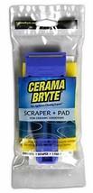 Cerama Bryte Scraper & Pad Combo Cooktop Tool, Blue