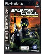 "PlayStation 2 - Tom Clancy's Splinter Cell ""Pandora Tomorrow"" - $10.00"