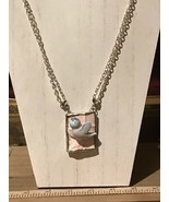Recycled Broken Porcelain, 3D Bird Large Pendant w/ Double Looped Attach... - $44.55