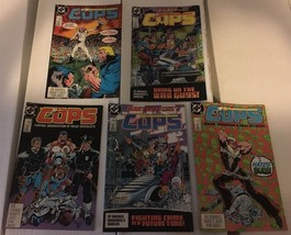 COPS #1 - 5 DC Book Lot / Run Of 5 1988 VF - VF+ Condition Central Orgin... - $7.19