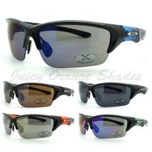 Mens Sports Sunglasses X-Loop Half Rim Wrap Around Golf Baseball 7 Colors New - $11.65