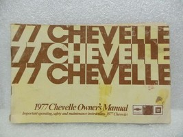 1977 Chevelle Owners Manual 16063 - $18.76