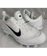 Nike womens Soccer shoes white lunarlon lightweight running mesh size 10.5 - $37.99
