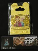 WDI D23 Elsa Anna Plaque LE 300 Pin Frozen Destination D Disney Authenti... - $225.62