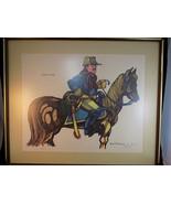 Vintage FRAMED SIGNED ART PRINT by FERDIE PACHECO MOUNTED TEDDY w/ COA 1... - $227.69