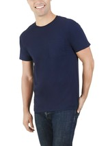 Fruit Of The Loom Men's Platinum Short Sleeve Pocket T Shirt Small Navy NEW - $10.68