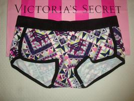 "New Victoria's Secret ""Pink"" Logo Boyshort Panty Multi Geo Print Size S - $10.88"