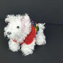 "Ganz Webkinz White Terrier Dog No Code Fluffy Outfit Dressed HM106 9"" #A43 - $4.94"