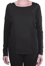 Bench Womens Black Danceoff + Halter Top Longsleeve Cotton Blend Shirt NWT image 1