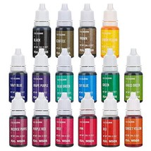 16 Color Food Coloring Liquid DaCool Cake Food Coloring Set Food Grade V... - $21.15