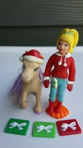 Polly Pocket Doll and Horse Santa Accessories Clothing - $15.20