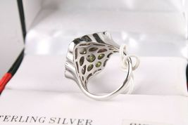 Size 8 Sterling Silver Multi Flower Cubic Zirconia Cluster Ring New w Tags image 4