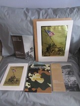 Iwo Jima Marines 50th Anniversary Booklets & So Proudly We Hail Foil Art... - $54.44