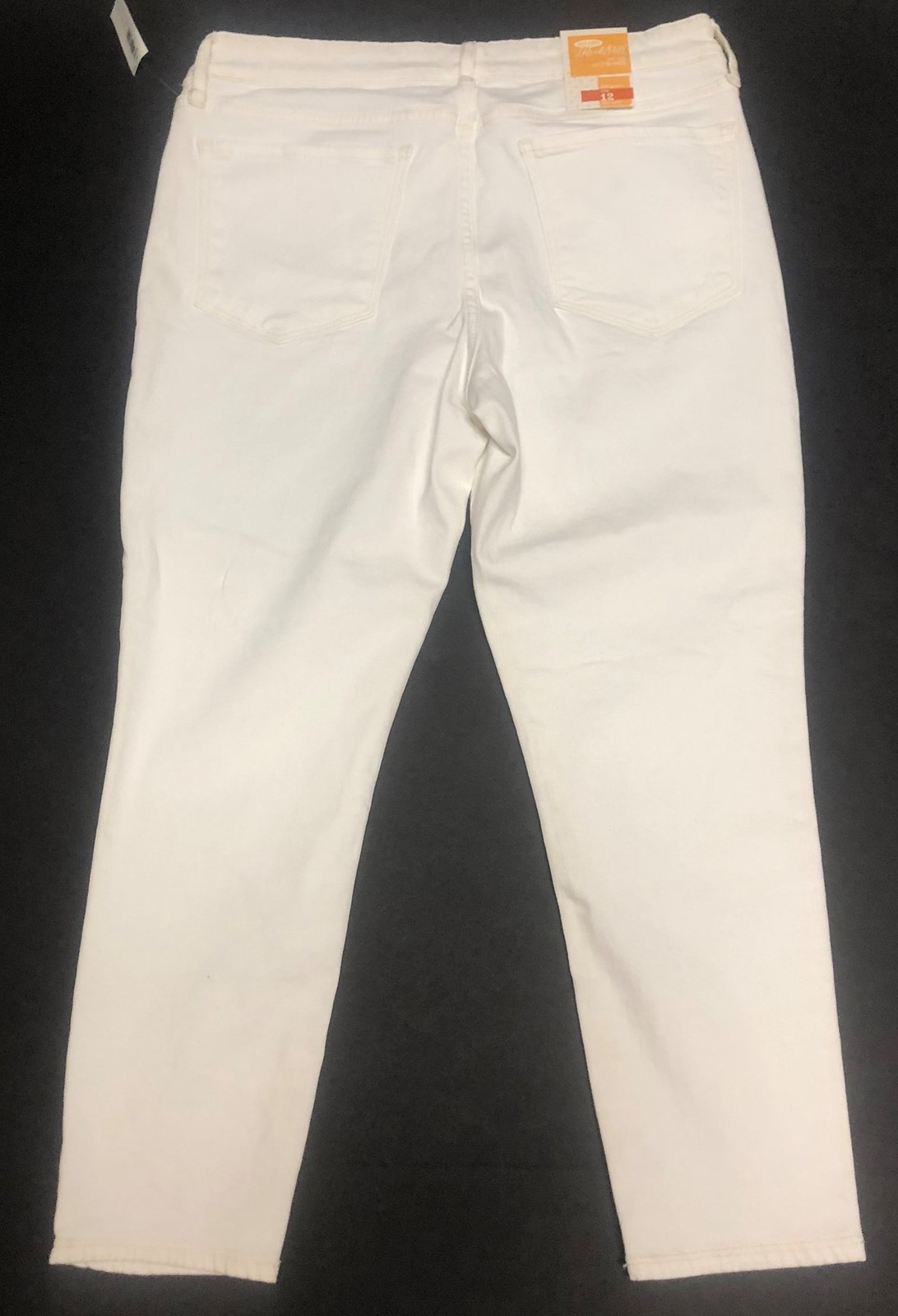 Old Navy Rock Star White Crop Jeans Sz 12 image 6