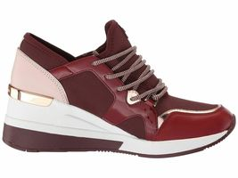 Michael Kors MK Women's Liv Trainer Sneakers Shoes Oxblood New /w Defect Sz 5.5 image 5