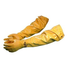 """Atlas 772 Large Nitrile Chemical Resistant Gloves, 25"""", Yellow, 1-Pair - $16.21"""