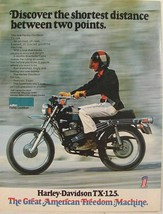 1972 Harley Davidson TX-125 Great American Freedom Machine Print Ad - $9.99