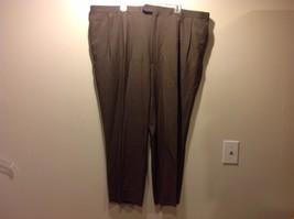 Mens Brown Tan Pleat Dress Pants