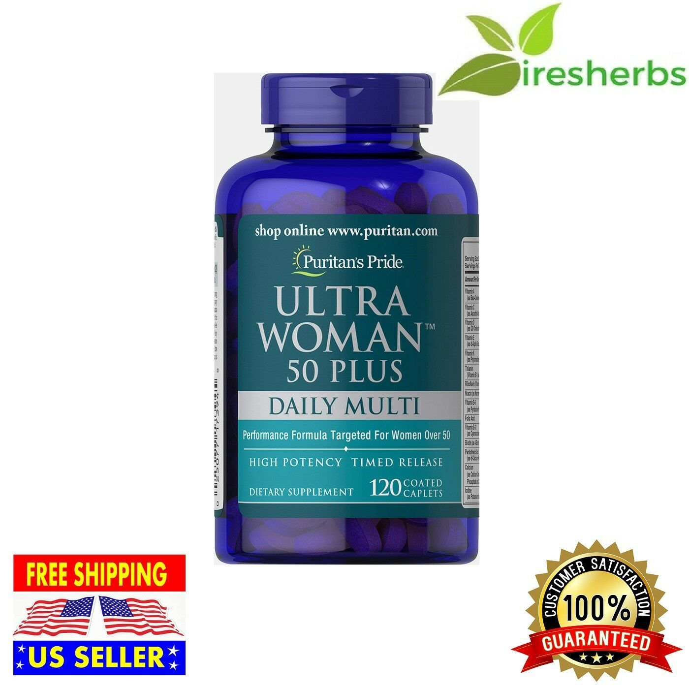 ULTRA WOMAN 50 PLUS MULTIVITAMINS PERFORMANCE ANTIOXIDANT SUPPLEMENT 360 CAPLETS image 2
