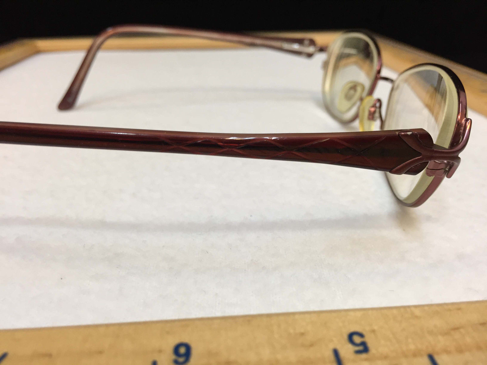 Sophia Loren Eye Glasses Mauve Pink Frames w/ Criss Cross Pattern Zyloware