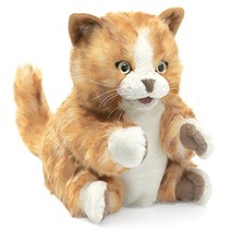 Folkmanis Orange Tabby Kitten Hand Puppet - $28.12