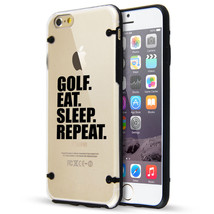For iPhone SE 5 5s 6 6s 7 Plus Clear TPU Hard Case Cover Golf Eat Sleep ... - $14.99