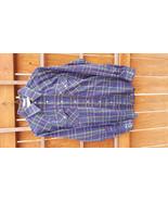 Vtg Timber Run Western Shirt-M-Blue Plaid-Pearl Snap Button-Cowboy Ranch... - $28.04
