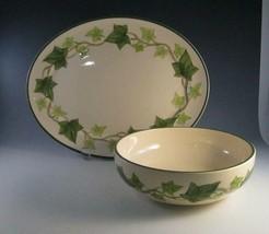 Vintage Franciscan IVY Platter & Vegetable Bowl - USA - $37.39