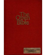 The Open Bible New American Standard Nelson 952R Burgundy Leatherette 1979 - $197.89