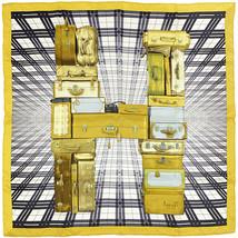 Auth Hermes Scarf H EN VOYAG Silk Carre Foulard ANAMORPHEE 70cm - $299.95