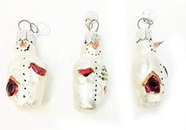 Home For ALL The Holidays Department 56 Mini Glass Snowman Ornament 2.5 inches S - $17.33