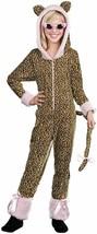 Crazy Cat Leopard Jumpsuit w/HOOD Child Halloween Costume Girls Size Medium 6-8 - $27.69