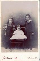 Bryant Family Children Cabinet Photo Harold L., Ethel R., Edna C. - Port... - $17.50