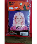 Fashion Holiday Head Accessory OSFM Pink Curly Kids Wig Halloween Costum... - $6.64
