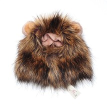 Pet Costume Lion Mane Wig for Dog Cat Halloween Dress up with Ears with ... - $18.05