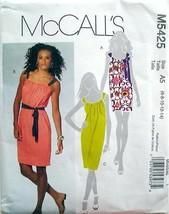 McCall's Pattern M5425 Summer Dresses /Belt Size 6-14 Misses & Miss Peti... - $5.65