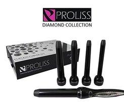 Proliss Diamond Collection 5P Curling Iron Wand 5-Piece Clipless Curler ... - $74.68