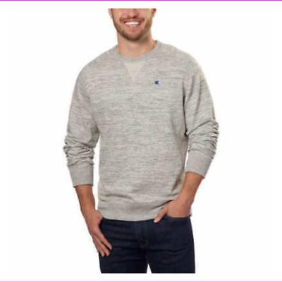 Champion Men's Textured French Terry Crew Sweatshirt