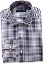 Tommy Hilfiger Men's Non Iron Regular Fit Check Spread Collar Dress Shir... - $28.04