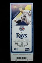 Toronto Blue Jays vs Tampa Rays Game 58 MLB Ticket w Stub 08/08/2012 Longoria - $8.17