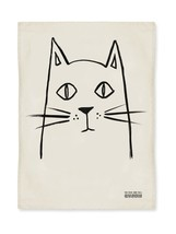 The Rise And Fall Painted Cat Kitchen Tea Towel... - $16.81