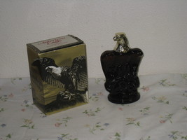 Vintage Avon Oland After Shave American Eagle Amber Glass Bottle with Box - $17.75
